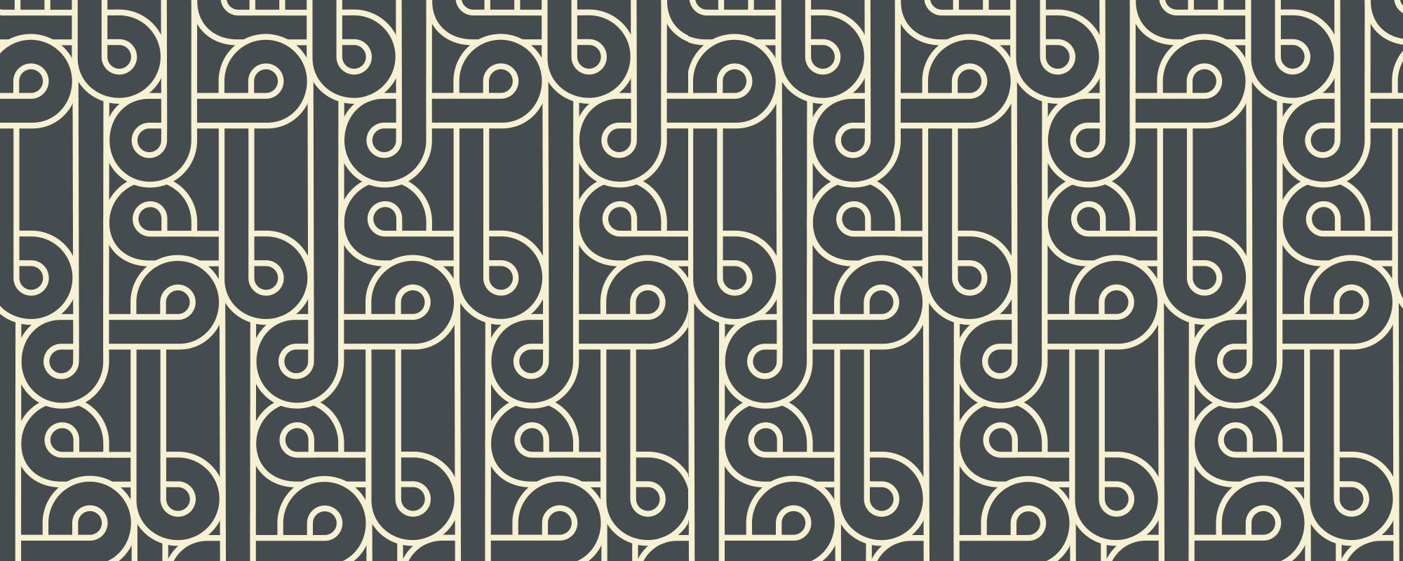 Papier peint graphique noir Flamingo
