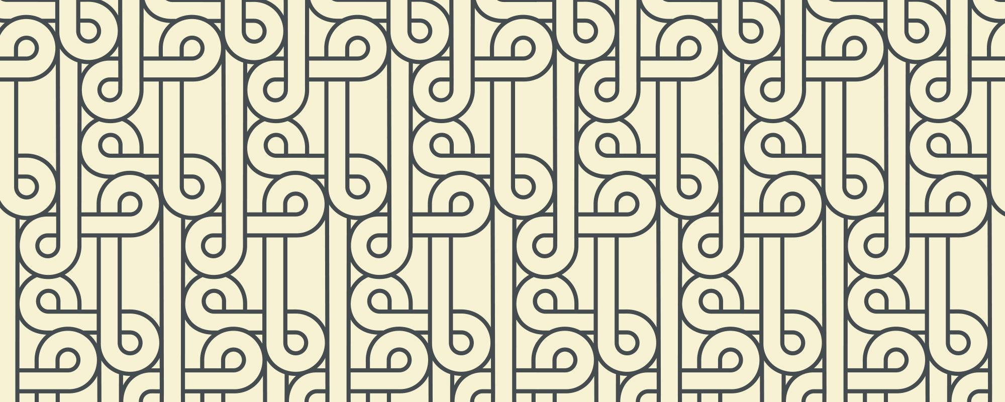 Papier peint graphique Flamingo