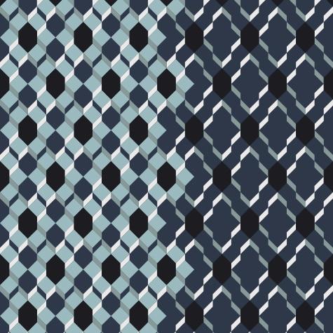 caf bleu motif g om trique de carr s superpos s papier peint le presse papier. Black Bedroom Furniture Sets. Home Design Ideas