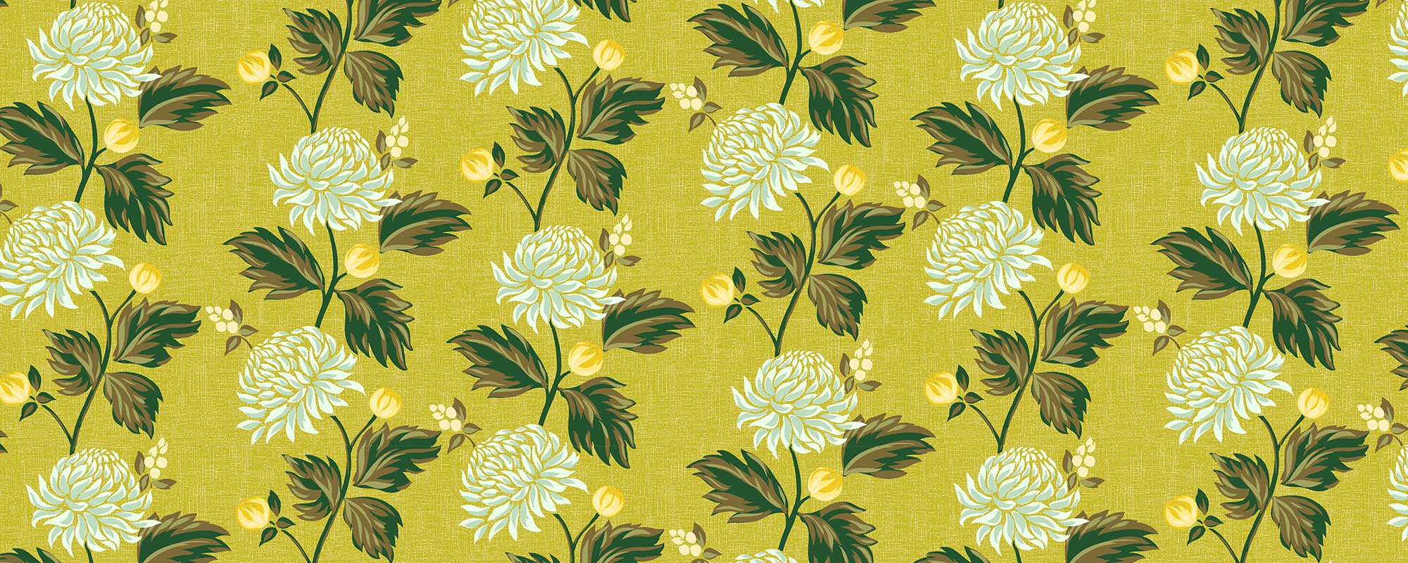 Papier peint design et vintage jaune