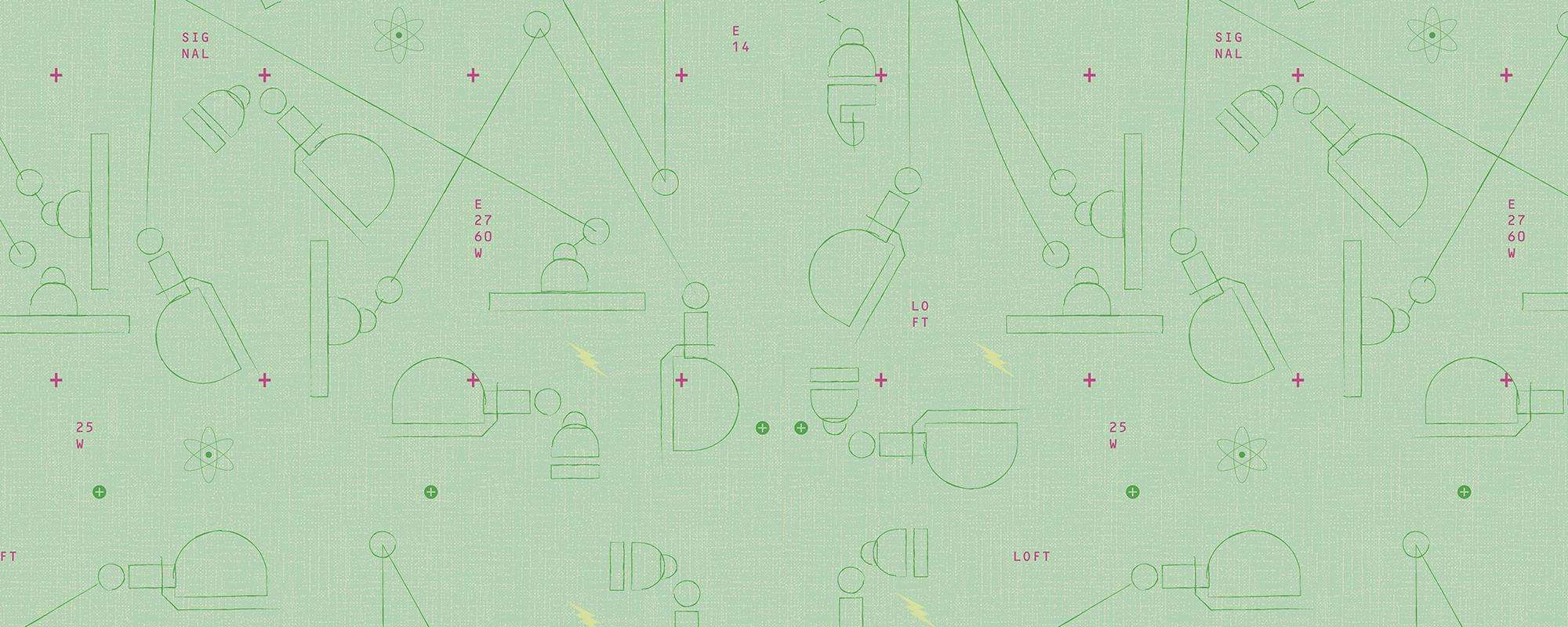 Papier peint design motifs géométriques