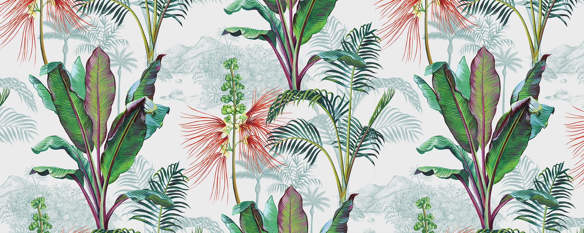 papier peint Caraïbes tropical et exotique