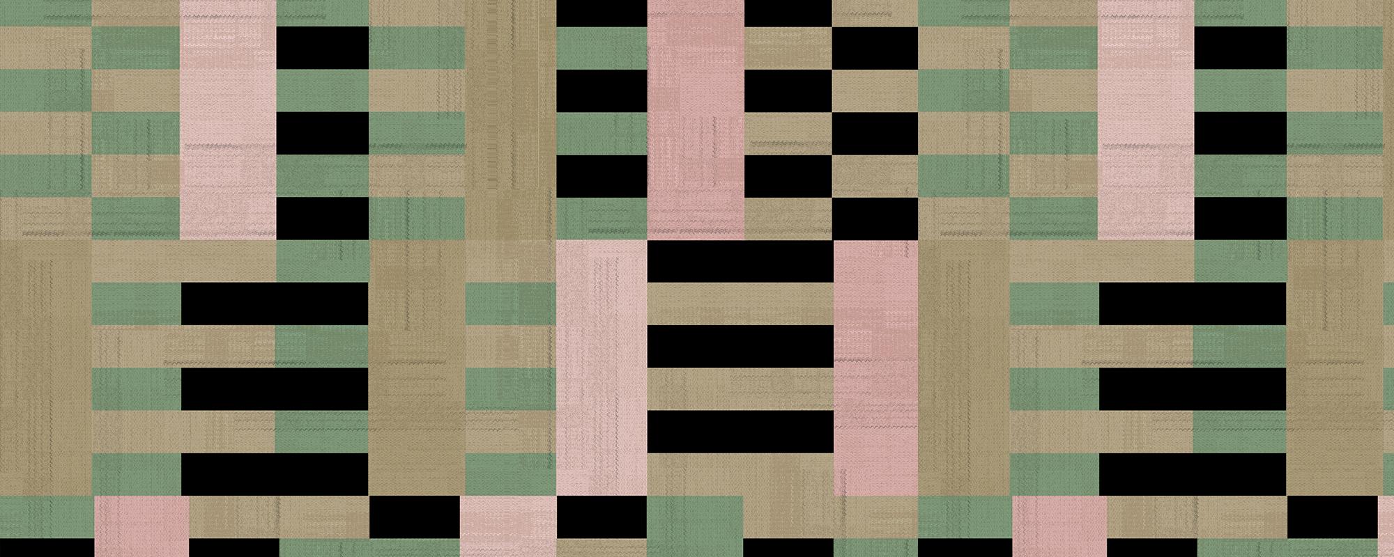 Papier peint graphique inspiré des mouvements modernistes