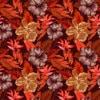 papier peint hibiscus vintage