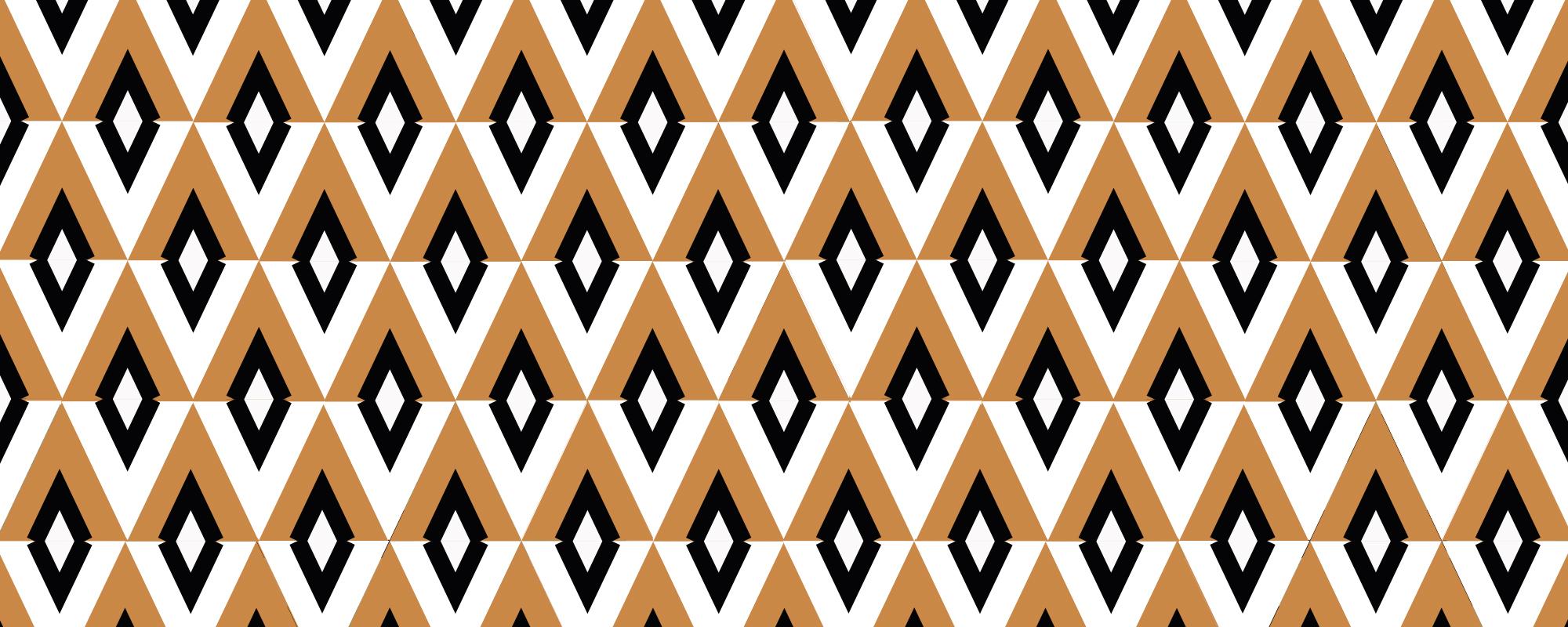 Papier peint géométrique Grand Budapest Hotel Abricot