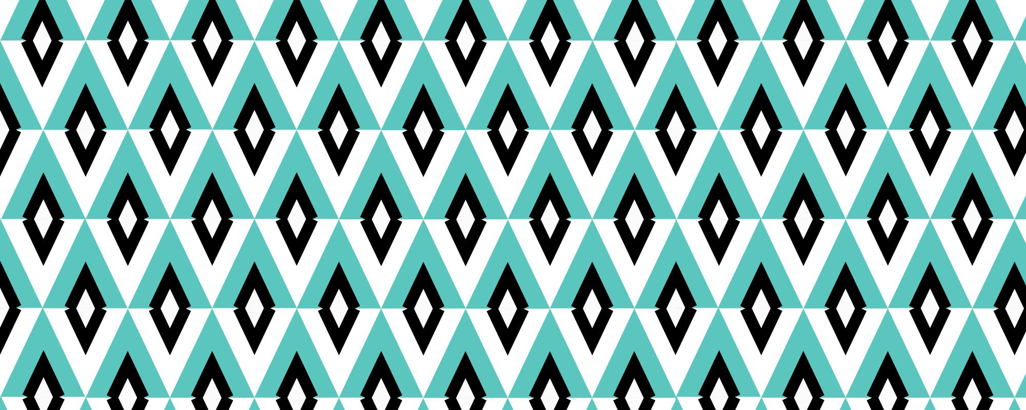 Papier peint géométrique Grand Budapest Hotel Turquoise