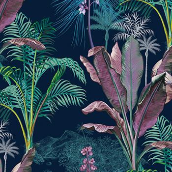 Papier peint Caraibes Nuit