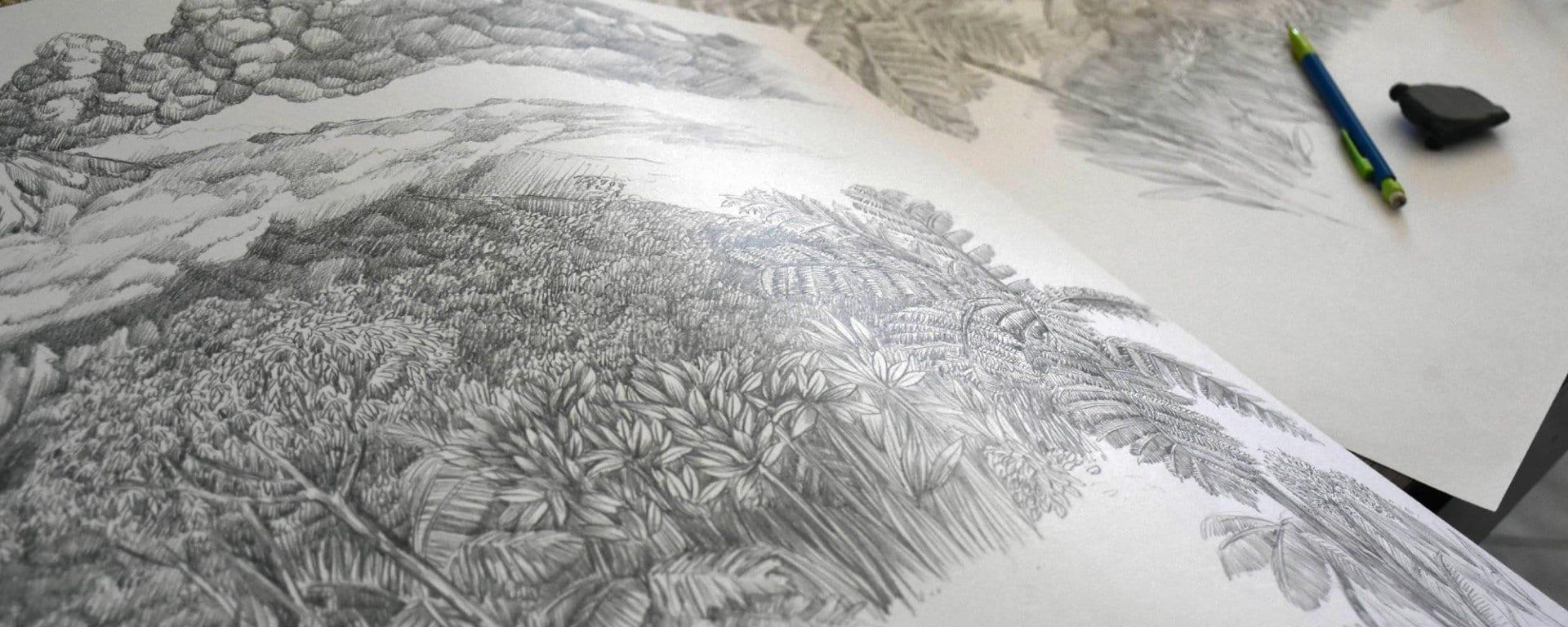 dessin papier peint