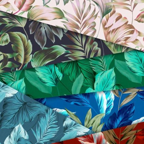 collection palm ligne de papier peint faite de gouaches florales le presse papier. Black Bedroom Furniture Sets. Home Design Ideas