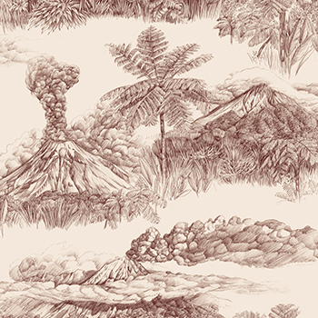Stromboli Sienne Papier peint