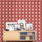 Afro Triangle Rose, un papier peint à la couleur de l'année 2019