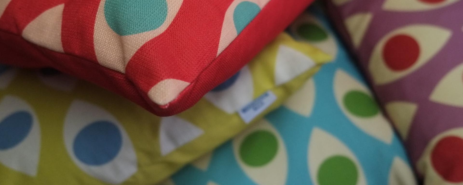 coussins design colorés