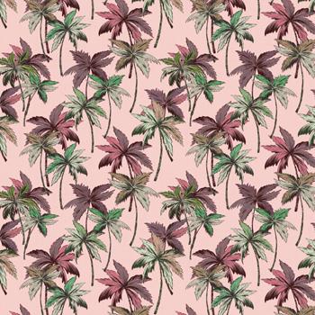 papier peint vintage motifs floraux rose