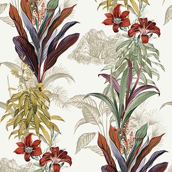 papier peint chic fleurs