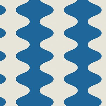 papier peint design bleu inspiration années 60