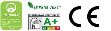 Certifications Greenguard - Imprim'vert - Emissions dans l'air intérieur A +