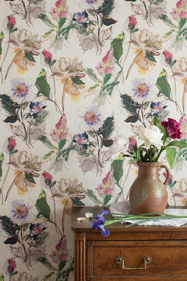 papiers peints floraux