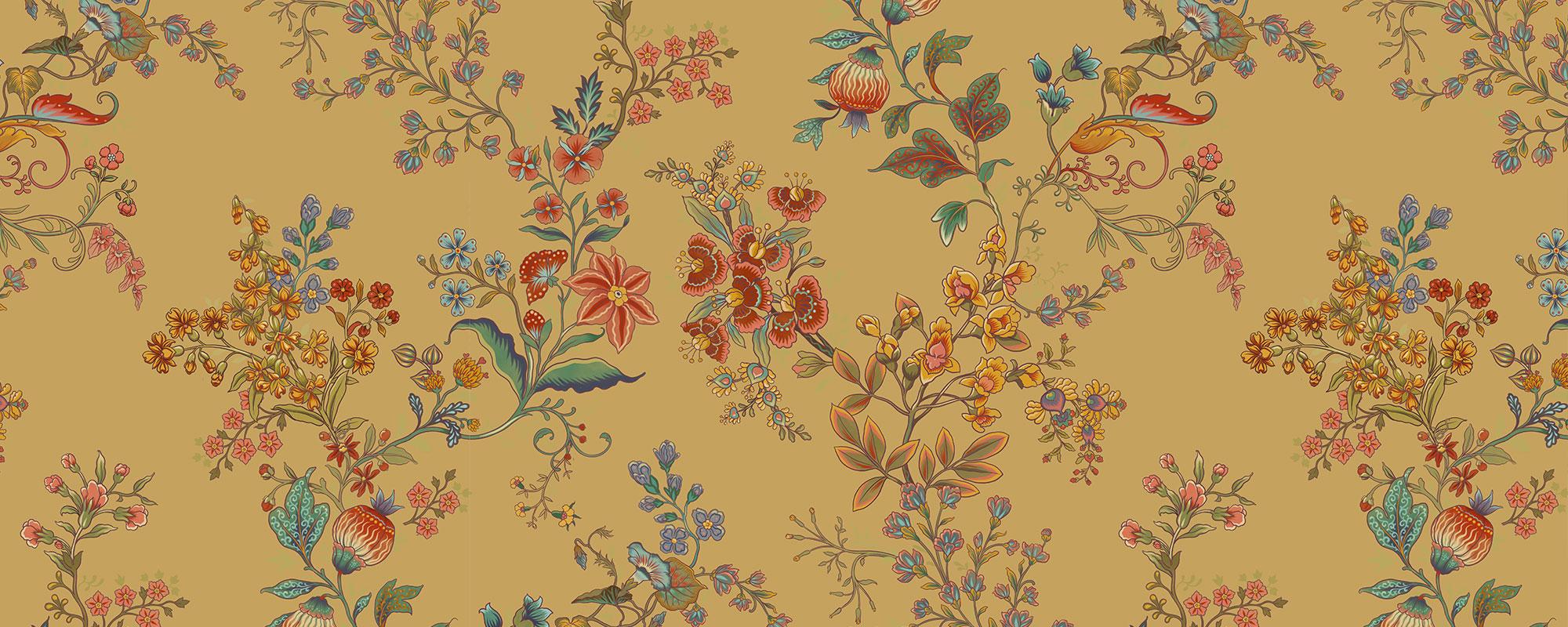 tapisserie fleurs